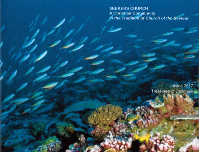 2017 Jubilee bulletin cover: undersea photo with fish and coral