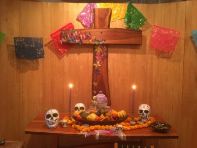 All Saints/Day of the Dead altar installation