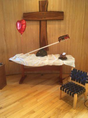 """2018 Eastertide altar, """"For the Love of God"""""""